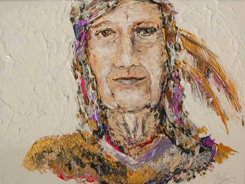 Acryl Porträt auf Leinwand